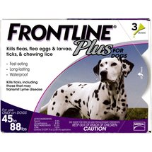 Frontline Plus Flea and Tick Control for Large Dogs 45 to 88 lbs.