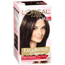 Excellence Creme Triple Protection Color Cr 100% Gray Coverage Dark Ash Brown Cooler 4A Hair Color