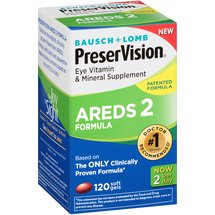 Bausch & Lomb PreserVision AREDS 2 Formula Eye Vitamin & Mineral Supplement Soft Gels