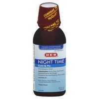H-E-B Night Time Cold & Flu Cherry Syrup