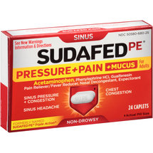 Sudafed PE Pressure   Pain   Mucus Relief Caplets for Adults