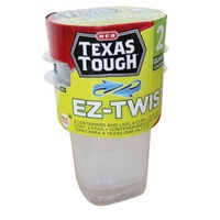 H-E-B Tough & Easy Ez Twist Containers With Lids