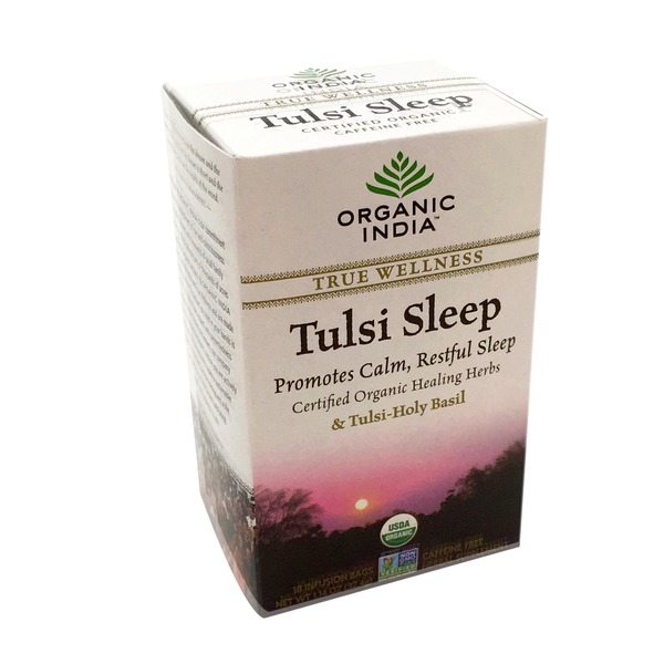 Organic India Tea, Tulsi Sleep, Caffeine-Free, Infusion Bags