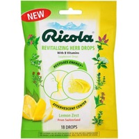 Ricola Lemon Zest Revitalizing Herb with B Vitamins Supplement Drops
