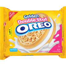 Nabisco Oreo Double Stuf Golden Sandwich Cookies