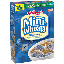 Kellogg's Frosted Mini-Wheats Bite Size Blueberry Muffin Cereal