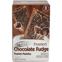 Great Value Frosted Chocolate Fudge Toaster Pastries 8 Ct/14.6 Oz
