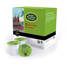 Keurig K-Cups Green Mountain Sumatran Reserve Organic Coffee