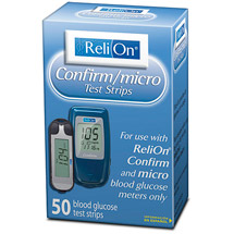 ReliOn Confirm Micro Blood Glucose Test Strips
