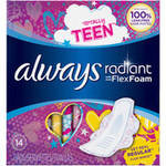 Always Totally Teen Radiant Infinity Pads