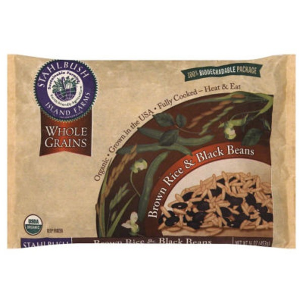 Stahlbush Island Farms Brown Rice & Black Beans