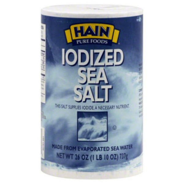 Hain Pure Foods Sea Salt Iodized