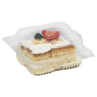 H-E-B Tres Leches Cake Slice with Two Fruits