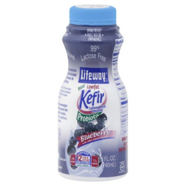 Lifeway Lowfat Kefir Smoothie Blueberry