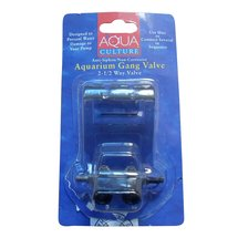 Aqua Culture Aquarium 2-1/2 Way Gang Valve