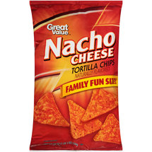 Great Value Nacho Cheese Tortilla Chips