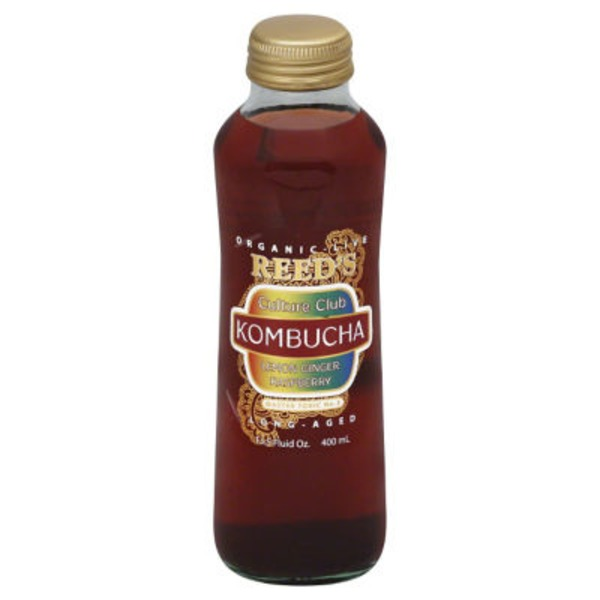 Reed's Inc. Lemon Ginger Raspberry Kombucha