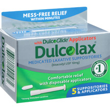 Dulcolax Medicated Laxative Suppositories with DulcoGlide Applicators