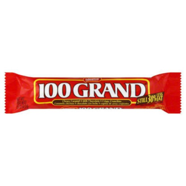 100 Grand Chewy Caramel, Milk Chocolate, and Crispy Crunchies Chocolate Candy Bar