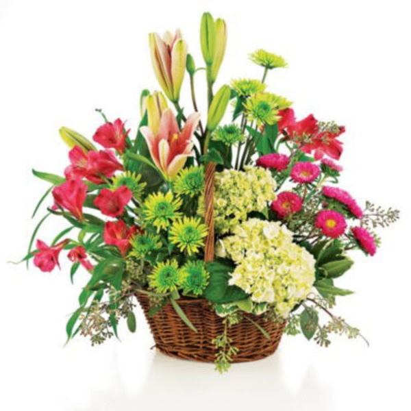 Floral Traditional Garden Basket