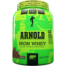 MusclePharm Arnold Schwarzenegger Iron Whey 100% Whey Protein Chocolate Dietary Supplement