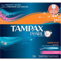 Tampax Pearl Plastic Super Plus Absorbency Scented Tampons