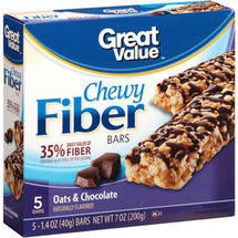 Great Value Fiber Bars Oats & Chocolate