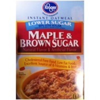 Kroger Lower Sugar Maple & Brown Sugar Instant Oatmeal