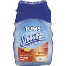 Tums Smoothies Extra Strength Assorted Fruit Antacid/Calcium Supplement