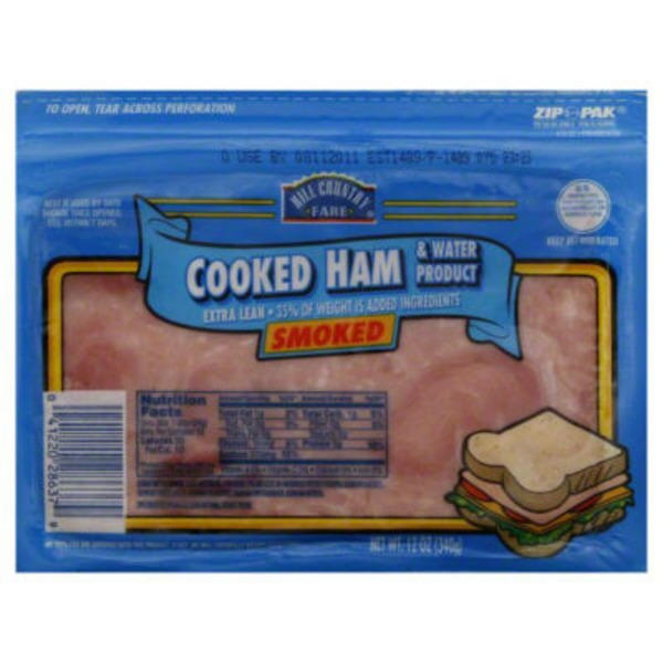 Hill Country Fare Smoked Cooked Ham And Water Product