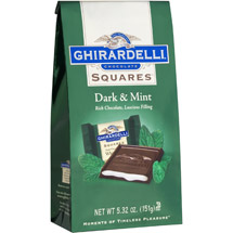 Ghirardelli Chocolate Squares Dark Chocolate W/White Mint Filling Chocolate