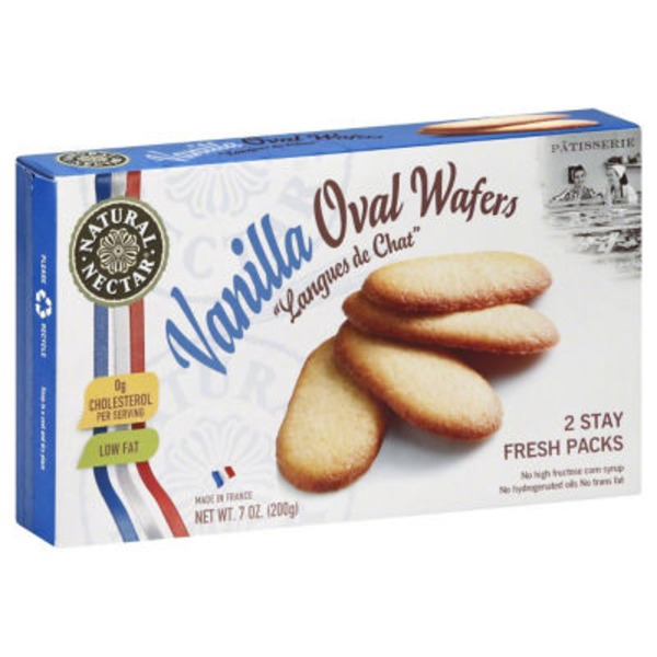 Natural Nectar Vanilla Oval Wafers