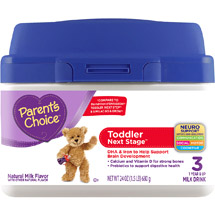 Parent's Choice Toddler Next Stage Tub Powder Milk Drink