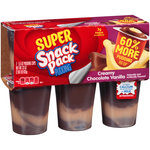 Super Snack Pack Creamy Chocolate Vanilla Pudding