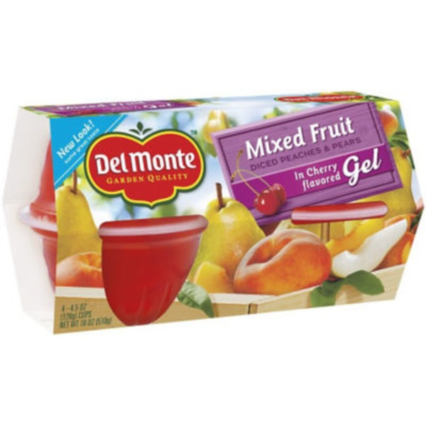 Del Monte Mixed in Cherry Flavored Gel Fruit Cups