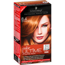 Schwarzkopf Color Ultime Flaming Reds Hair Coloring Kit 8.4 Light Copper Red