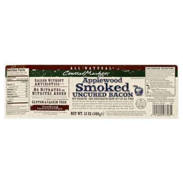 Central Market Applewood Smoked Uncured Bacon