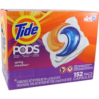 Tide PODS Laundry Detergent, Spring Meadow, 152 count, Designed for Regular and HE Washers Laundry