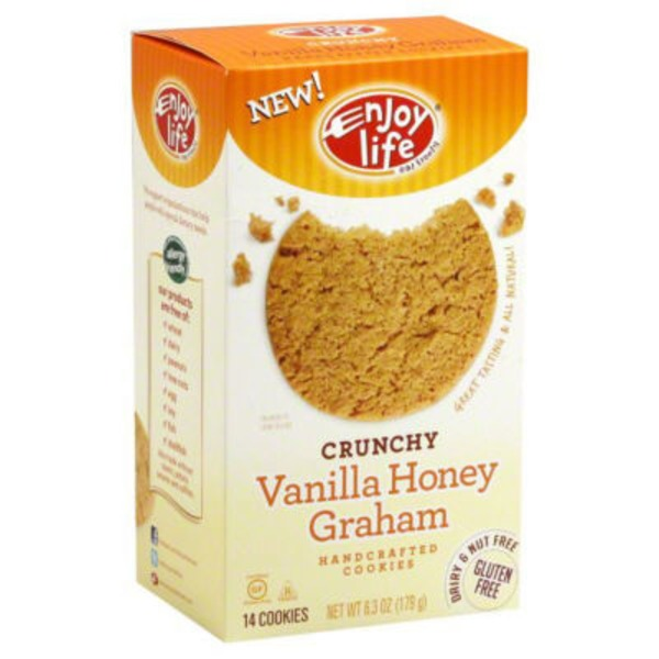 Enjoy Life Vanilla Honey Graham Handcrafted Crunchy Cookies