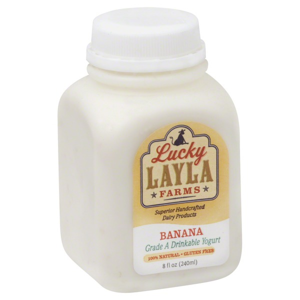 Lucky Layla Farms Yogurt, Drinkable, Banana