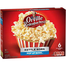 Orville Redenbacher's Pop Up Bowl Kettle Korn Gourmet Popping Corn