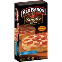 Red Baron Singles Deep Dish Pepperoni Pizzas