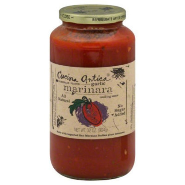 Cucina Antica Cooking Sauce, Marinara, Garlic