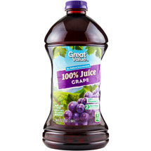 Great Value 100% Grape Juice