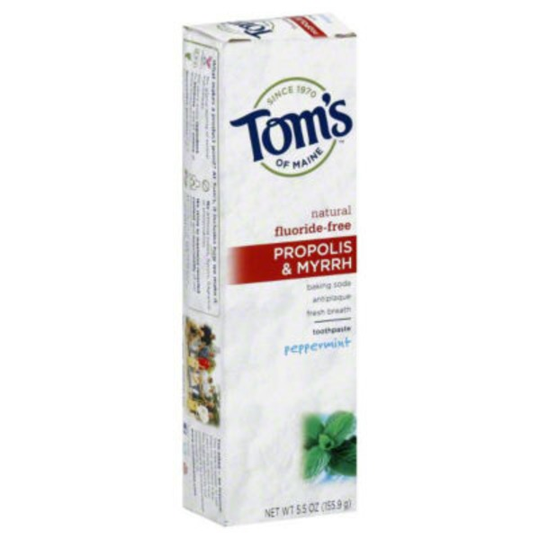 Tom's of Maine Propolis & Myrrh Natural Fluoride-Free Peppermint Toothpaste