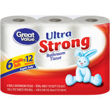 Great Value Ultra Strong Bathroom Tissue Double Rolls