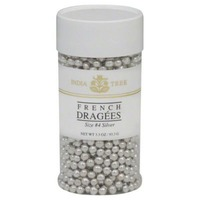 India Tree French Dragees, Silver, Size 4