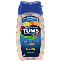 Tums E-X 750 Extra Strength Assorted Fruit Antacid/Calcium Supplement
