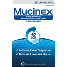 Mucinex 12 Hours Expectorant Tablets