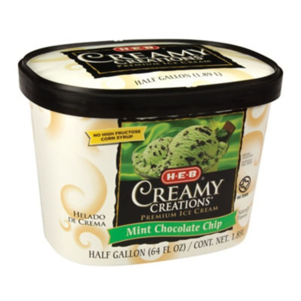 H-E-B Mint Chocolate Chip Ice Cream